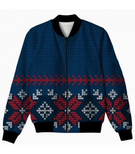 Christmas all over printed jacket