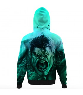 hulk all over printed hoodie