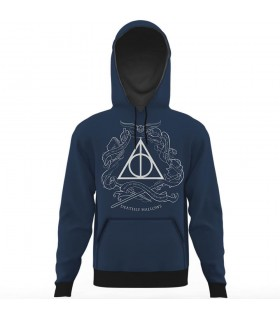 deathly hallows all over printed hoodie