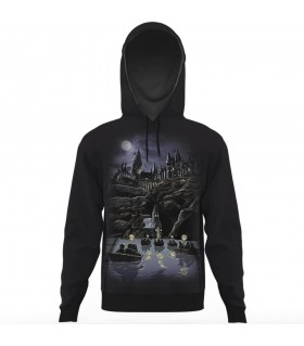 hogwarts all over printed hoodie