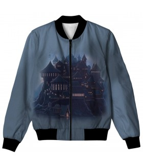 hogwarts all over printed jacket