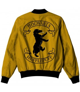 hufflepuff all over printed jacket
