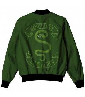 slytherin all over printed jacket