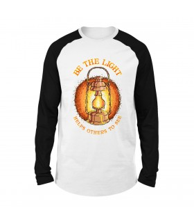 Be The Light Printed Raglan T-Shirt