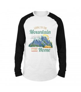 Going To The Mountain Printed Raglan T-Shirt