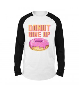 Donut Give Up Printed Raglan T-Shirt