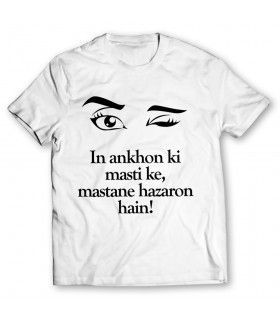 ankhon ki masti printed graphic t-shirt