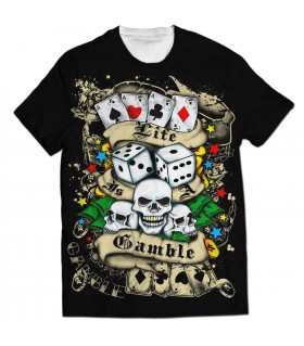 gamble all over printed t-shirt