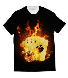 poker gambling all over printed t-shirt