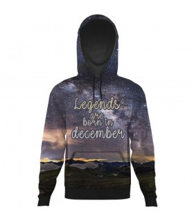 december all over printed hoodie