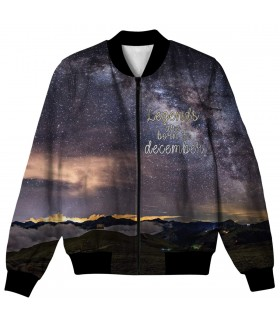 december all over printed jacket