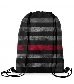 black american flag printed drawstring bag