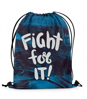 fight for it printed drawstring bag