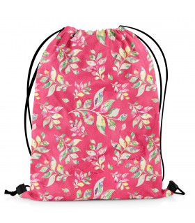floral printed drawstring bag