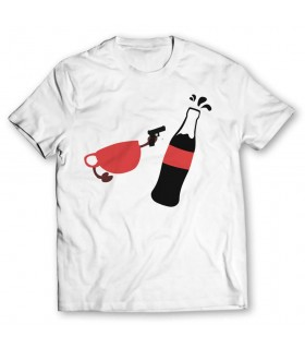tea vs coke printed graphic t-shirt