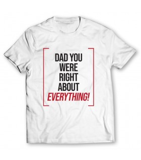 dad everything printed graphic t-shirt
