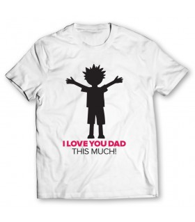 i love you dad printed graphic t-shirt