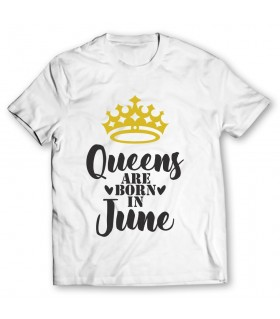 queen are born in june printed graphic t-shirt