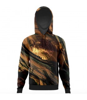abstract all over printed hoodie