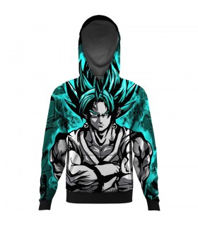 blue goku ALL OVER PRINTED HOODIE