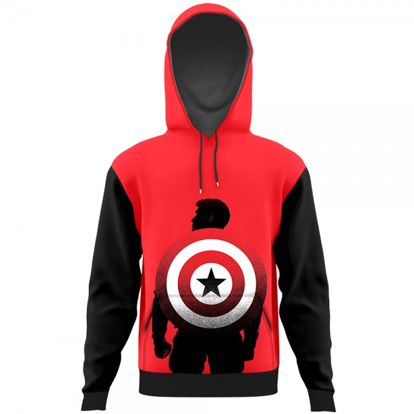 Captain america All Over Printed Hoodie