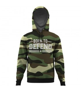 born to defend ALL OVER PRINTED HOODIE