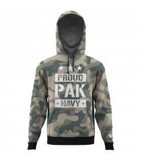 proud pak navy ALL OVER PRINTED HOODIE