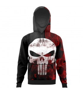 Skull All Over Printed Hoodie