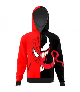 Spiderman and venom All Over Printed Hoodie