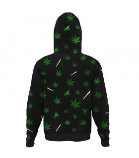 weed joint ALL OVER PRINTED HOODIE