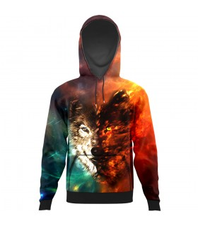 Wolf All Over Printed Hoodie