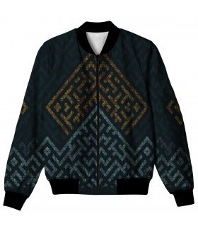 geometric all over printed jacket