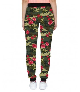 floral camouflage jogger pant