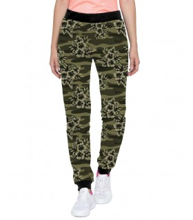 flower camouflage jogger pant