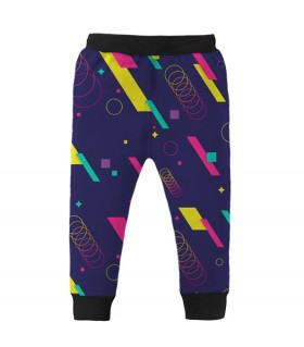 abstract shapes kids jogger pant