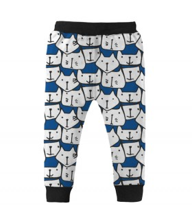 cat faces kids jogger pant