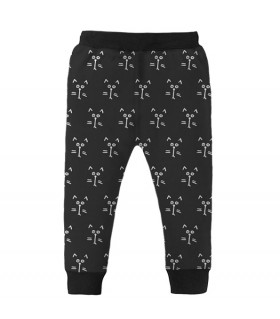 cats face kids jogger pant
