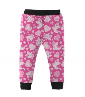 cute cats kids jogger pant