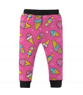 ice cream pattern kids jogger pant