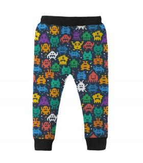 pixelated monsters kids jogger pant