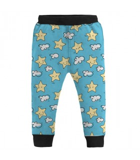 star and clouds kids jogger pant