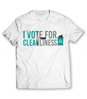 i vote for cleanliness printed graphic t-shirt