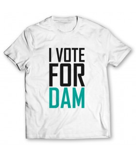 i vote for dam printed graphic t-shirt