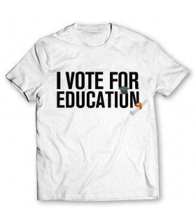 i vote for education printed graphic t-shirt