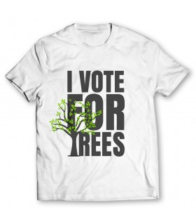 i vote for trees printed graphic t-shirt