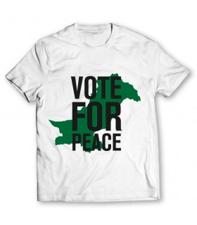 vote for peace printed graphic t-shirt