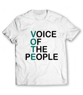 vote printed graphic t-shirt