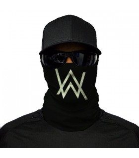 alan walker printed bandana mask
