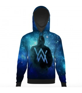 alan walker all over printed hoodie