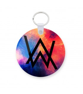 alan walker printed keychain